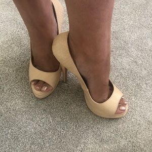 Ivory Platform Heels